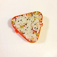 黑芝麻玉米肠饭团的做法图解10