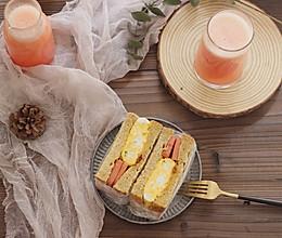 早餐 全麦三明治厚蛋烧的做法