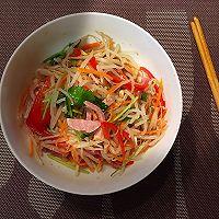 10分钟快手菜,花椒油凉拌五彩豆芽的做法图解7