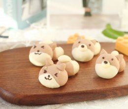 """#美食说出""""新年好""""# 好玩又好吃的柴犬酥的做法"""