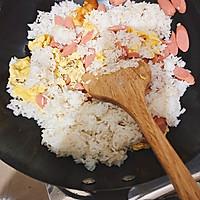 火腿鸡蛋炒饭的做法图解6
