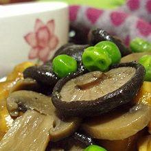板栗青豆炒双菇