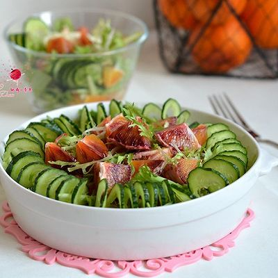 多彩蔬果大拌菜