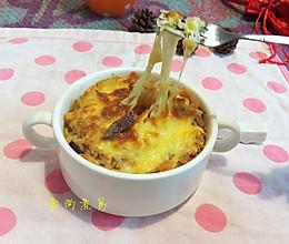 黑椒牛肉粒芝士焗饭的做法