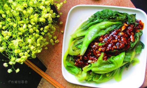 蒜蓉淋生菜的做法