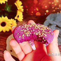 不用一滴油的健康紫薯饼的做法图解9