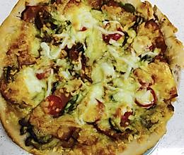 培根蘑菇披萨的做法