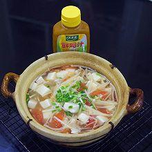 #太太乐鲜鸡汁玩转健康快手菜#低脂金针菇豆腐鲜汤
