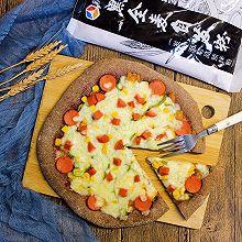 黑全麦健康火腿披萨