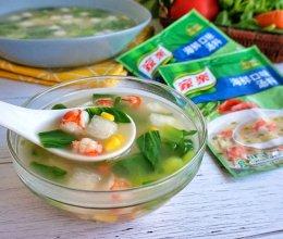 快手时蔬海鲜汤的做法