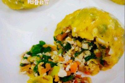 蒸玉米面菜团子 减脂主食代餐 不用揉面擀皮!饱腹低卡