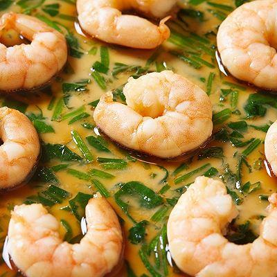 【菠菜虾仁蒸蛋】蒸蛋做得更好吃,试试这两样东西!