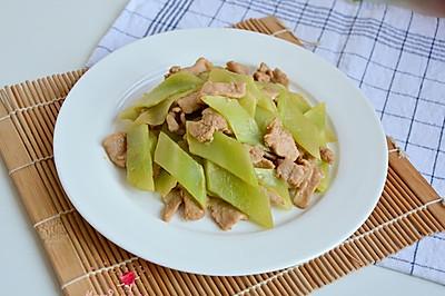 牛肉炒莴笋