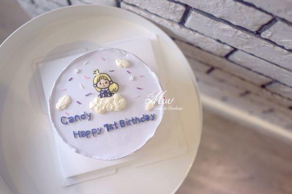 韩式简约奶油霜手绘蛋糕