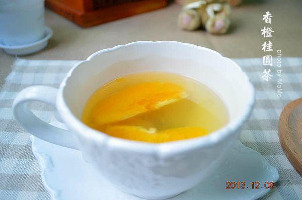 香橙桂圆茶的做法