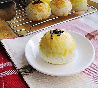 红豆酥皮月饼
