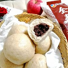 #健康低脂,选新良全麦自发粉#豆沙包