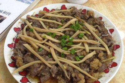 头菜蒸牛肉