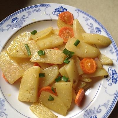 椒盐土豆的做法 步骤6