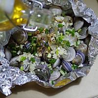 锡纸烤蛤蜊的做法图解6