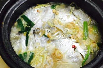 豆瓣酱水煮鲳鱼