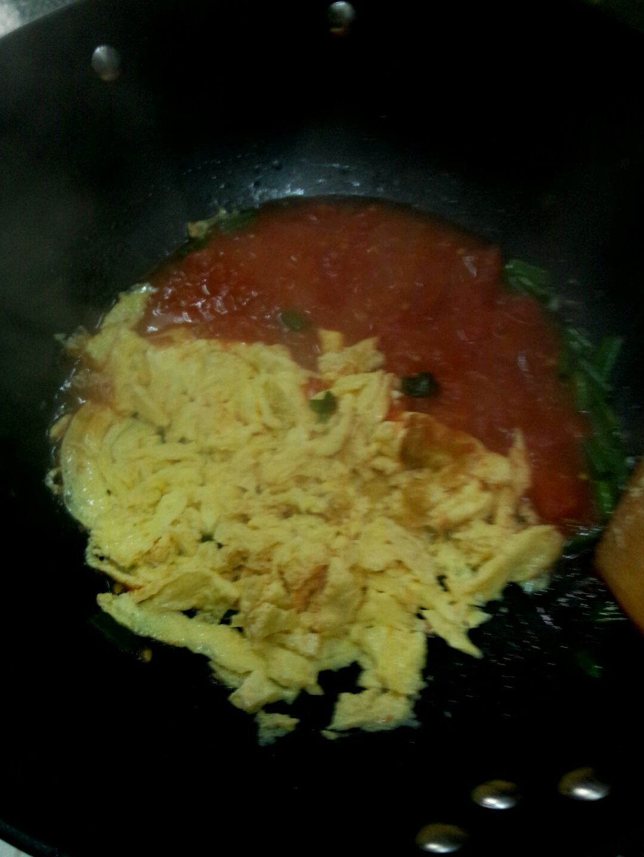 西红柿炒鸡蛋矢量图
