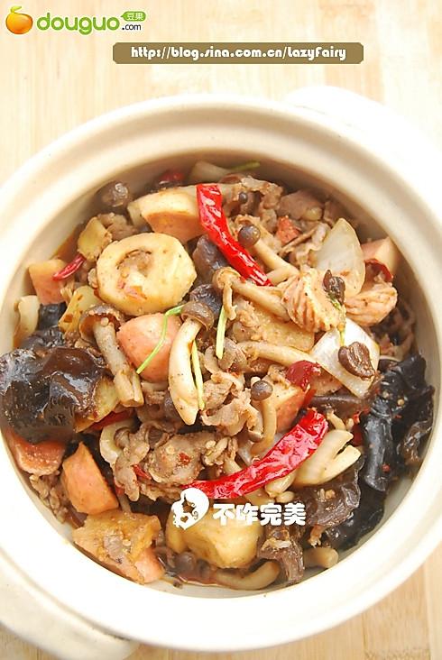麻辣蟹菇锅的做法
