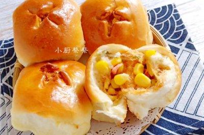 肉松玉米咸口小面包