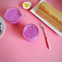 火龙果蓝莓奶昔#冰箱剩余食材大改造#