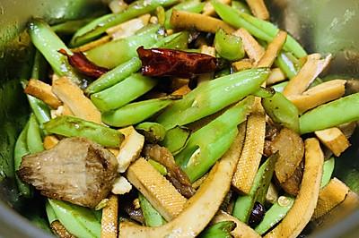 四季豆香干丝炒肉