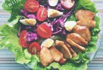 低脂鸡胸肉蔬菜沙拉的做法
