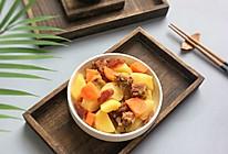 秋风起:土豆胡萝卜炖双腊味的做法