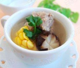 玉米香菇排骨汤的做法