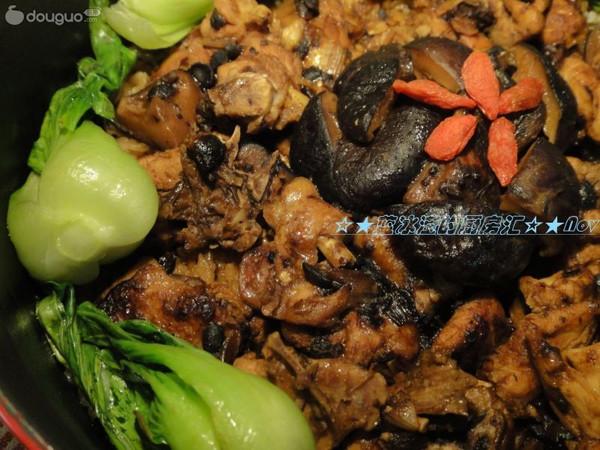 豉汁鸡肉煲仔饭之铸铁锅版的做法
