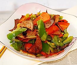 #元宵节美食大赏#青椒胡萝卜炒猪肝,美味下酒菜的做法