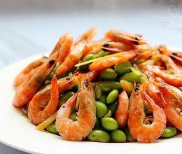 毛豆炒河虾的做法