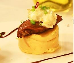 薯蓉奶酪栗子鸡的做法