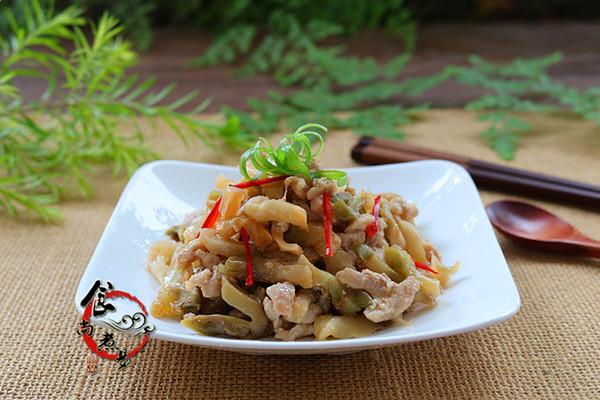 v肉丝肉丝菜谱#美的微波炉榨菜清淡菜谱豆制品图片