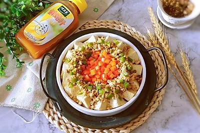 鸡汁肉沫蒸豆腐