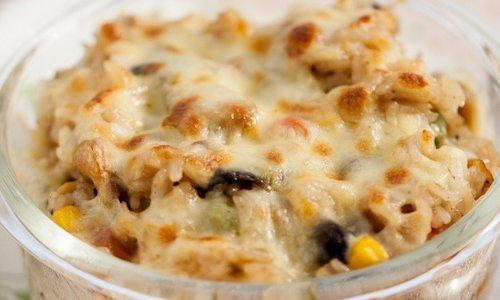 剩米饭的华丽转身---芝士蘑菇焗饭的做法