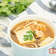 虾仁菌菇烩豆腐