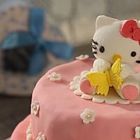 HOLLETKITY粉色双层翻糖蛋糕#九阳烘焙剧场#的做法图解52