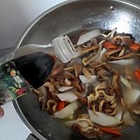 试用之平菇菜心焖牛肉#大喜大牛肉粉#的做法图解3