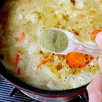 咖喱鲜虾牡蛎锅的做法图解8