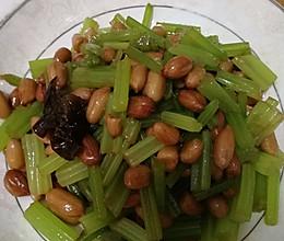 芹菜拌花生的做法