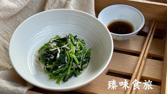 虾皮拌菠菜的做法
