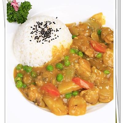 咖喱鸡腿土豆饭