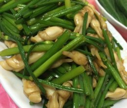 韭菜花炒蛏子的做法