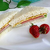 #夏日消暑,非它莫属#早餐三明治的做法图解8