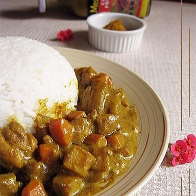 东南亚风味——咖喱鸡腿饭